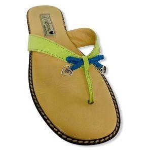 Brighton Ofelia Leather Thong Sandals